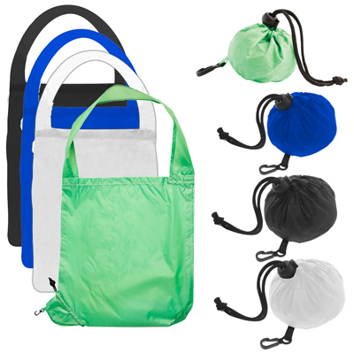 Printed foldable bag in carry ball bag