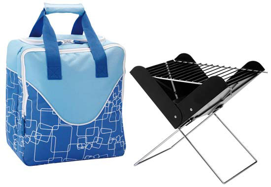 Fold-up BBQ with handy Cooler Bag