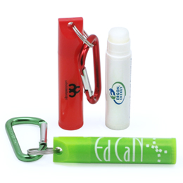 Carabiner Attachment with Lip Balm Tube