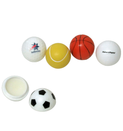 Sport shaped Lip Balm Balls