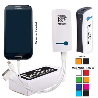 Printed Tablet Power Bank for iPhones & iPads