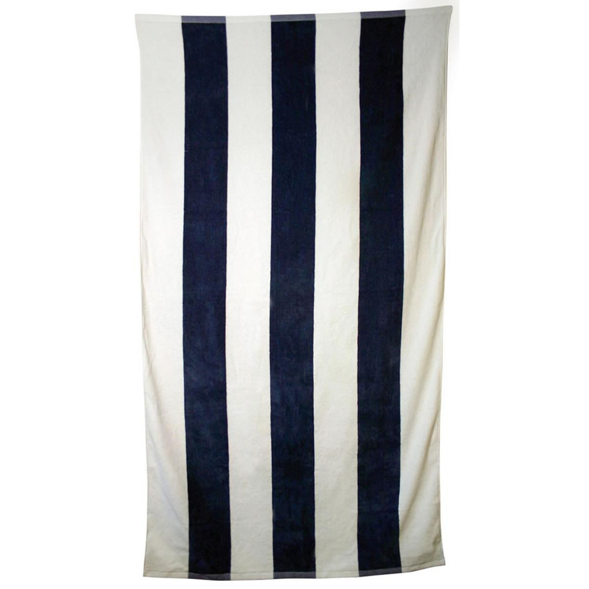 Striped promotional towel striped promotional towel with for How to keep white towels white