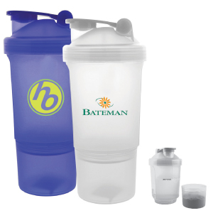 Printed Drink Shaker with Storage Compartment