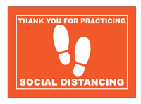 Social Distancing Indicator Rectangle Floor Graphics