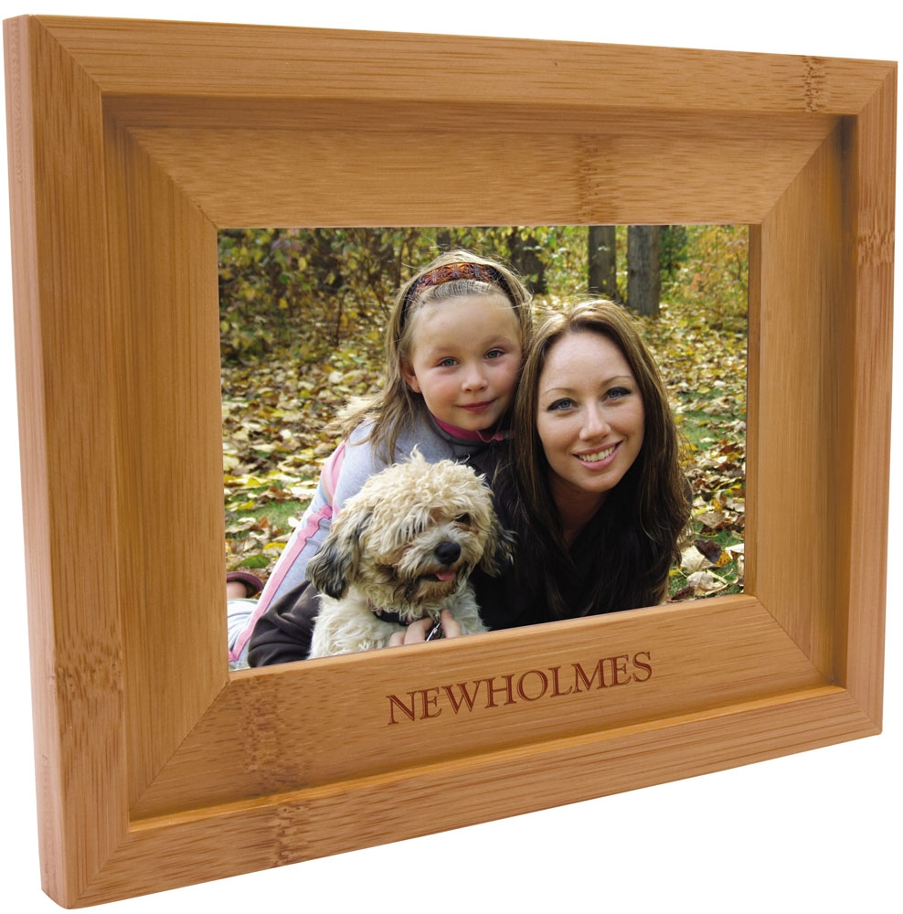 Engraved Bamboo Picture Frame