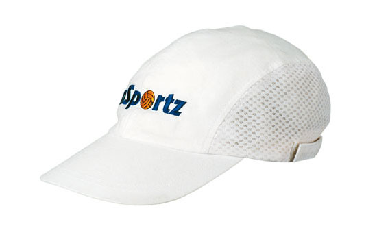 Promotional White Sports Cap