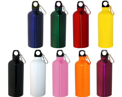 Metal Drink Bottle with Carabiner