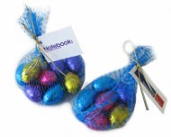SOLID EASTER EGGS IN MESH BAG X6
