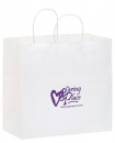 White Kraft Paper Take-out Twisted Paper Handle Shopper