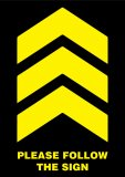 Rectangle Chevron Yellow 3