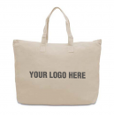 Extra large Canvas Large Zippered Tote