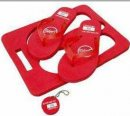 Rectangle EVA Beach Thongs and Floating Key Chain Set