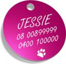 Round Dog Tags With Engraving