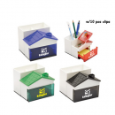 Pen Holder Woth Memo Holder With Clips