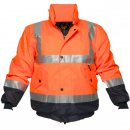 Hi Vis Flying Jacket Two Tone With Reflective Tape Over Shoulders