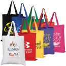 Coloured Cotton Double Short Handle Tote Bag