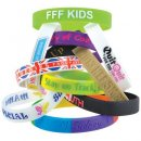 12mm Wide Silicone Wrist Bands
