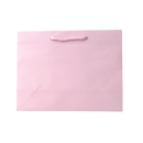 Laminated Matte Ruby Pastel Pink Paper Bag