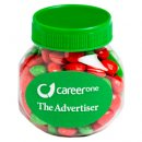 Plastic Jar Filled With Christmas Chewy Fruits 170g