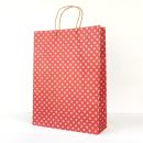 Red Spot Kraft Midi Paper Bag
