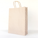 White Spot Kraft Midi Paper Bag