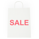 White Kraft Small Paper Bag with Sale Printing