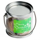 Small PVC Bucket Filled With Christmas Fudge Or Coconut Ice