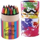 Custom Design Assorted Colour Crayons in Cardboard Tube (Indent)