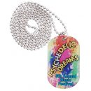 Epoxy Domed Dog Tag Neck Chain