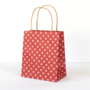 Red Spot Kraft Toddler Paper Bag