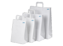 White Paper Carry Bag With Carry Handles