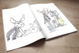 Open Custom Printed Colouring Book