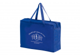 Blue Non-Woven Essential Briefcase Tote With Zipper Closure