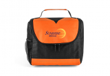 Black/Orange Center Divider Lunch Bag