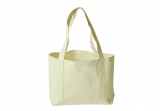 Natural Heavy Duty 380ml Cotton Canvas Open Boat Tote