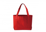 Red Heavy Duty 380ml Cotton Canvas Open Boat Tote