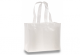 White Laminated Tote