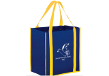 Navy/Yellow Two-tone Non-Woven Tote Bag with Poly Board Insert