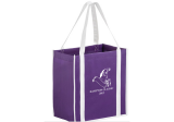 Purple/White Two-tone Non-Woven Tote Bag with Poly Board Insert