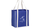 Royal/White Two-tone Non-Woven Tote Bag with Poly Board Insert
