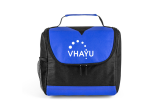 Black/Blue Center Divider Lunch Bag