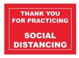 Thank you for practicing socail distancing rectangular floor