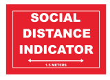 Social Distancing Indicator Floor Graphics rectangular shape