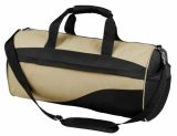 Khaki/ Black Bag Roll Sports Bag