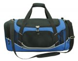 Black/Royal/White/Charcoal Atlantis Sports Bag Embroidered
