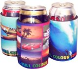 Full colour sublimation print stubby coolers