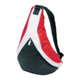 Black/White/Red Dart Sling Bag