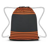 Orange Striped Drawstring Sports Pack