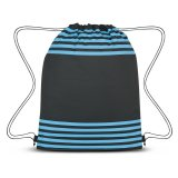 Blue Striped Drawstring Sports Pack