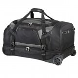 Black Vertex Drop Bottom Wheeled Bag